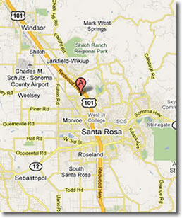 Santa Rosa California Map.Map Of Santa Rosa Compressportnederland